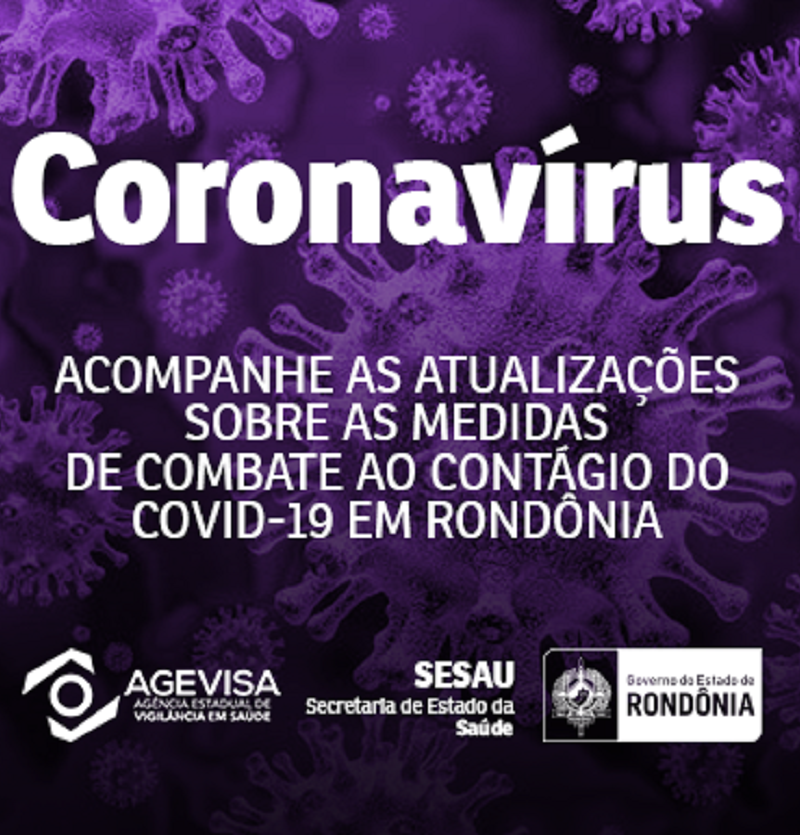 RO tem 3 casos confirmados de coronavírus e 163 suspeitos