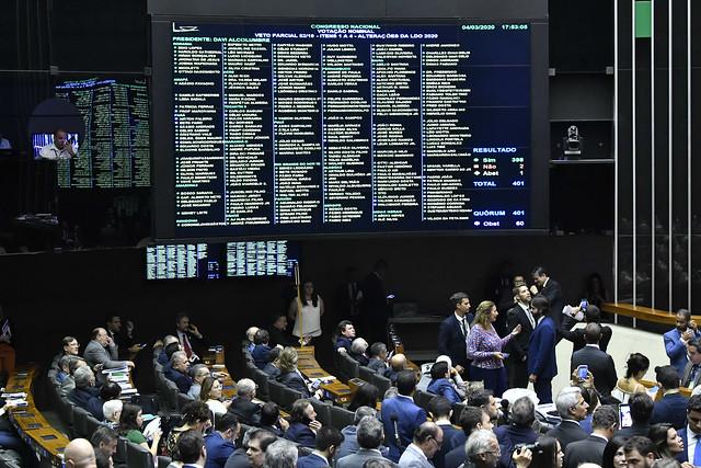 Congresso mantém vetos de Bolsonaro no Orçamento