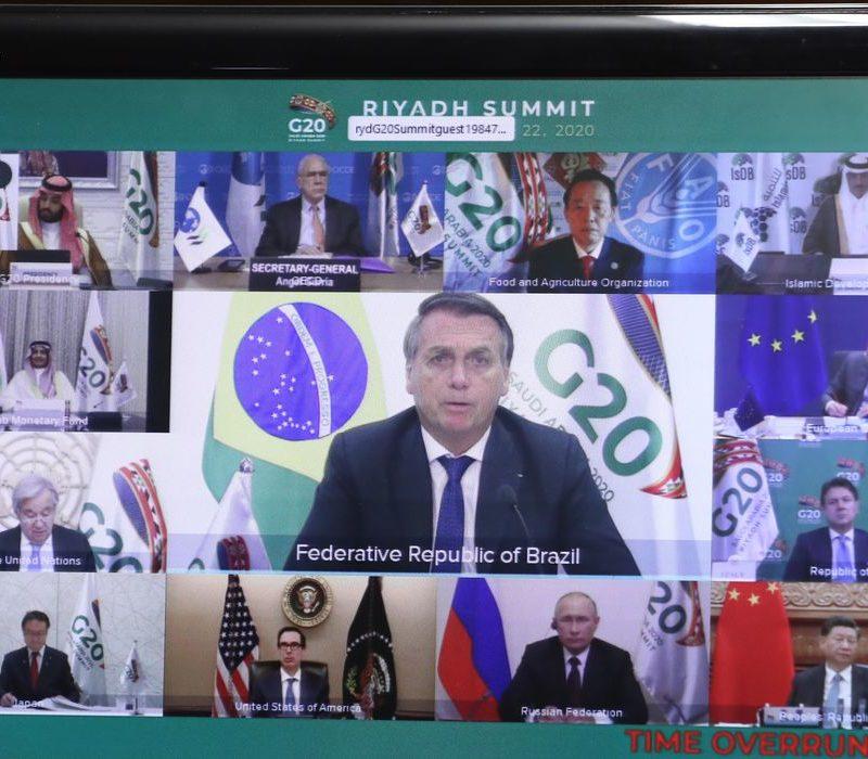 Em reunião do G-20, Bolsonaro pede reformas nos compromissos da OMC