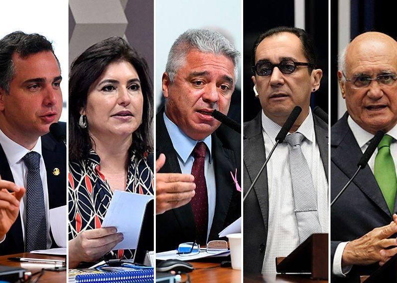 Cinco senadores disputam a presidência do Senado nesta segunda, 1º